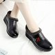 Black PU Waterproof Flower Embroidered Slip On Boots