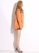 Yellow Drawcord Pockets Hoodie Faux Fur Coat