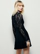 A-line Sexy Lace See-through Look Keyhole Dress