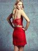 Pierced Lace Spanghetti Sexy Two Piece Dress