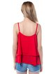 Ruffled Buttoned Casual Spaghetti Tank Top