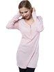 Casual Long Sleeve Zipper Cotton-blend V Neck Sheath Dress