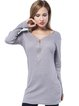 Casual Long Sleeve Zipper Cotton-blend V Neck Sheath Dress