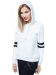 Casual Cotton-blend Hoodie Long Sleeve Stripes Sweatshirt