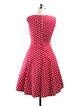 Short Sleeve Vintage Polka Dot Print Bow Dress