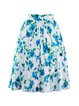 Floral Print Folds A-line Girly Skirt