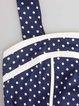 Dark Blue Cotton-blend Tie Back Vintage A-line Party Dress