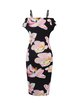 Spaghetti Floral Print Vintage Sheath Dress