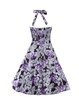 Sweetheart Vintage Tie Back Vintage Sleeveless Floral Print Dress