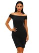 Crisscross Sexy Off Shoulder Bodycon Dress
