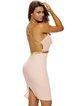 Pink Plunging Neck Gold Strap Open Back Dress