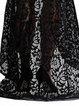 Black Spaghetti Slit Mermaid Crocheted Lace Dress
