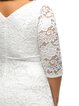 White Elegant A-line 3/4 Sleeve Guipure Lace Dress