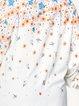 Shirt Collar Long Sleeve Floral Print Casual Top