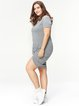 H-line Crew Neck Casual Short Sleeve Solid Dress
