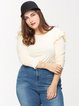 Apricot Casual Shirt Collar H-line Solid Casual Top