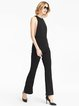 Black Sexy Pockets Halter Sleeveless Solid Jumpsuit