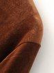 Camel Velvet Long Sleeve Simple H-line Dress