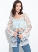 White Shift Crocheted Lace Outerwear