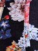Black Floral-print Chiffon Tank Top