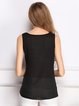 Chiffon Solid Basic Scoop Neckline Tank Top