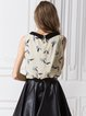Printed Sleeveless Chiffon Peter Pan Collar Tank Top