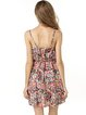 Multicolor Spaghetti A-line Abstract Printed Dress
