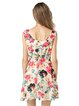 Floral-print Sleeveless Chiffon A-line Dress