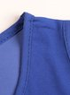 Royal Blue Layered Solid Chiffon Tank Top