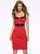 Sweetheart Elegant Polka Dots Bow Dress