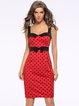 Sweetheart Elegant Polka Dots Bow Dress