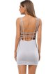 Gathered Spaghetti Strappy Open Back Dress