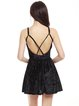 Strappy Back A-line Sexy Spaghetti Folds Velvet Dress