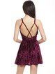 Strappy Back Spaghetti Folds Velvet V Neck Dress