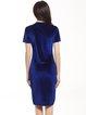 Solid Velvet Crew Neck Simple Short Sleeve Dress
