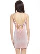 Pink Open Back Solid Spaghetti Velvet Dress