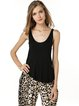 Asymmetric Scoop Neckline Modal Tank Top