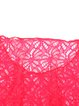 Fuchsia Pierced Lace V Neck Solid Cover Up