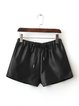 Black Drawstring Solid Shorts
