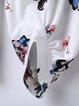 White Balloon Sleeve Floral-print Blouse