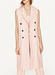 Pink Lapel Sleeveless Buttoned Vest