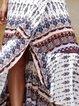 Printed Boho Flounce Maxi Wrap Skirt