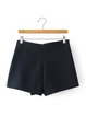 Navy Blue Solid Casual Asymmetric Shorts