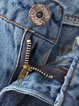Blue Washed Casual Ripped Denim Jeans