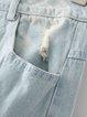Light Blue Ripped Cutout Denim Street Jeans