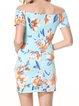 Eyes On Me Light Blue Off Shoulder Floral Dress