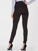 Made For You Black Solid High-rise Leggings