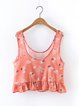 Well Played Pink Ruffled Scoop Neckline Tank Top