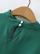 Whenever Wear-ever Green Choker Neck Bell Sleeve Crop Top