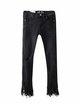 Beyond Explanation Black Ripped Rivet Street Jeans